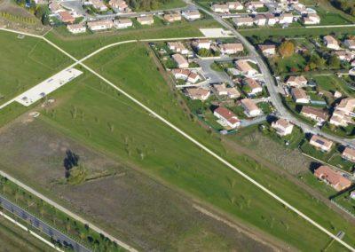 Vue aérienne du parc d'activité
