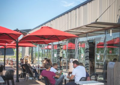 Terrasse du restaurant Courtepaille, Aire de Services des Portes du Tarn