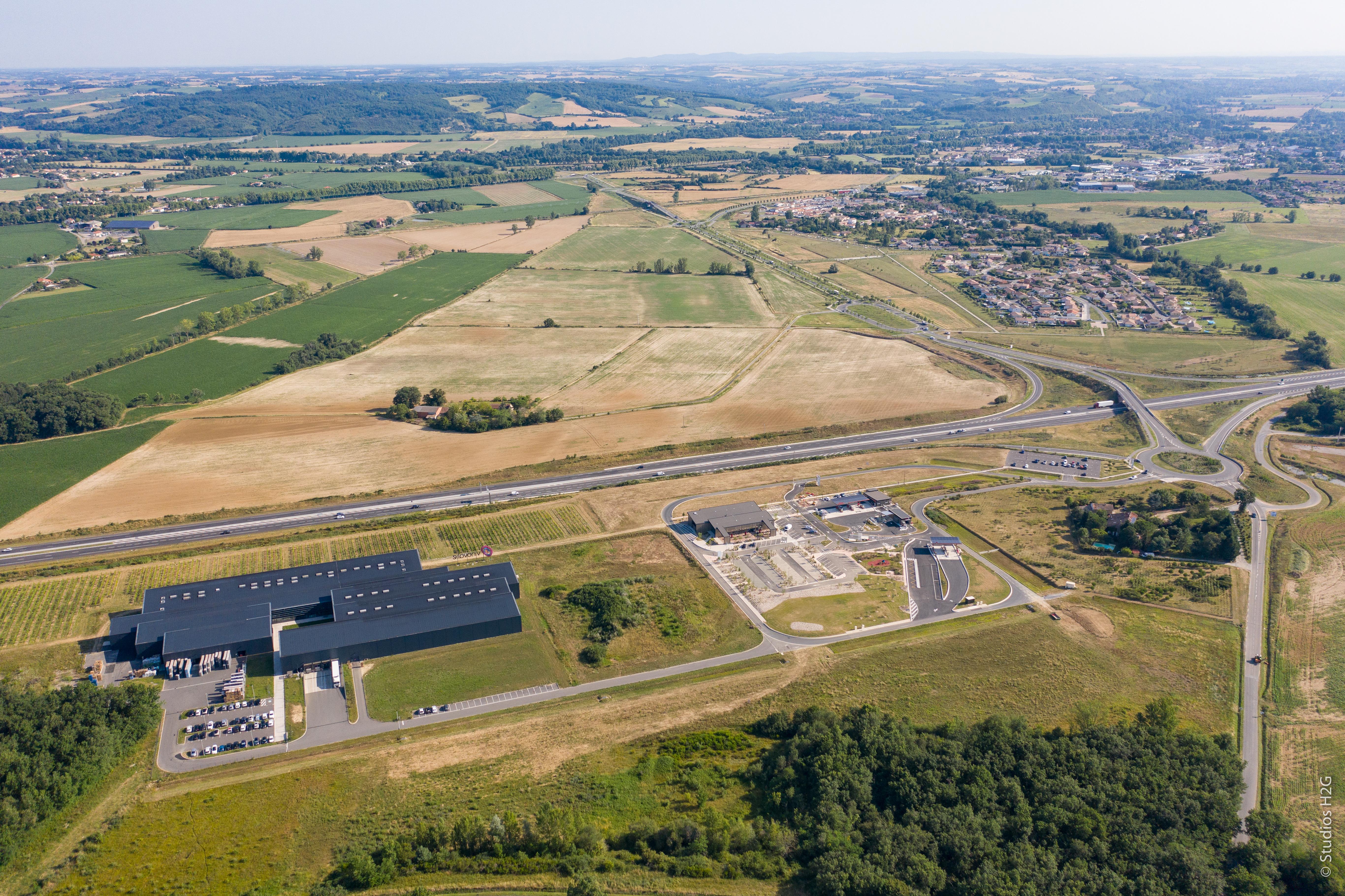 Vue aérienne des Portes du Tarn